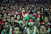 Fans of the Hungarian National Team during the last Game of Hungary in the EM 2016 (26.06.2016)