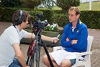 17-06-13, Netherlands, Rosmalen,  Autotron, Tennis, Topshelf Open 2013, Interview with Thiemo de Bakker for Tennis TV by Jan-Willem de Lange<br /> Photo: Henk Koster