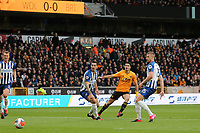 Raúl Jimenez of Wolverhampton Wanderers shoots wide during Wolverhampton Wanderers vs Brighton & Hove Albion, Premier League Football at Molineux on 7th March 2020