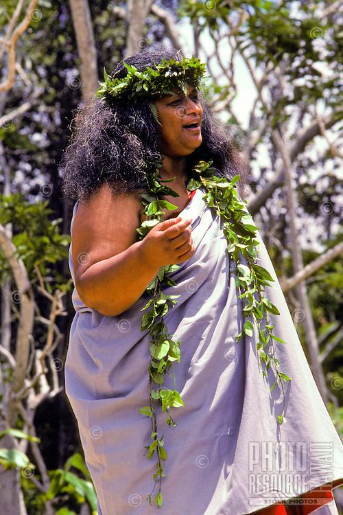 Chanting with Ipuheke Pualani Kanahele at the big island's Volcanoe National Park