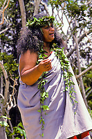 Chanting with Ipuheke Pualani Kanahele at the big island's Volcanoe National Park