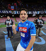 17th March 2019, Stadio San Paolo, Naples, Italy; Serie A football, Napoli versus Udinese; Dries Mertens of Napoli celebrates their win