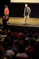 """Montreal (Qc) CANADA, July 19, 2007 -<br /> <br /> French Director Yves Montmayeur (R) present his documentary """"<br /> Ghibli et le Mystère Miyazaki """" ,  at Fantasia Festival, July 19, 2007<br /> Fantasia Film Festival photo : Pierre Roussel (c)  Images Distribution"""
