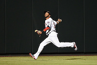 Salt River Rafters outfielder Eddie Rosario (16) during an Arizona Fall League game against the Scottsdale Scorpions on October 7, 2014 at Salt River Fields at Talking Stick in Scottsdale, Arizona.  Scottsdale defeated Salt River 7-4.  (Mike Janes/Four Seam Images)