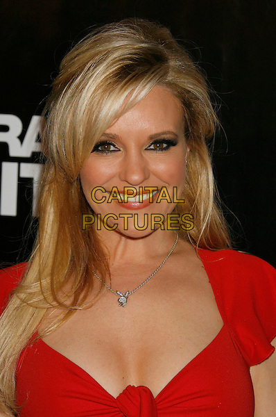 "BRIDGET MARQUARDT.""The Girls Next Door"" Season 3 Launch Party held at The Playboy Mansion, Holmby Hills, California, USA,.27 February 2007..portrait headshot red dress.CAP/ADM/RE.©Russ Elliot/AdMedia/Capital Pictures."
