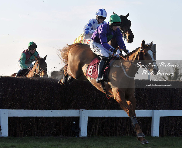 Picture In The Sky ridden by Daryl Jacob. Race 5. ladbrokes.com Kent National (Handicap Chase). Kent National Day. Folkestone Racecourse. Folkestone. Kent. 29/02/2012. MANDATORY Credit Garry Bowden/Sportinpictures - NO UNAUTHORISED USE - 07837 394578.