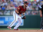 Diamondbacks' Chris Owings plays in a spring training game against the Chicago Cubs in Phoenix, AZ, on Thursday, March 23, 2017.<br /> Photo by Cathleen Allison/Nevada Photo Source