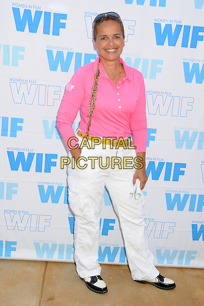 Shari Belafonte<br /> 16th Annual Women In Film Malibu Golf Classic held at the Malibu Golf Club, Malibu, California, USA, 13th July 2013.<br /> full length top pink white trousers <br /> CAP/ADM/BP<br /> &copy;Byron Purvis/AdMedia/Capital Pictures