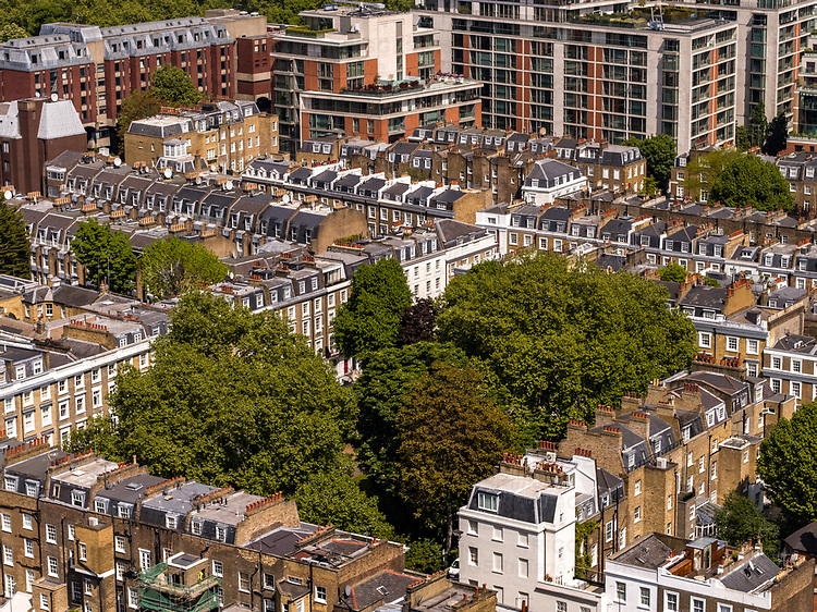 An aerial view of London
