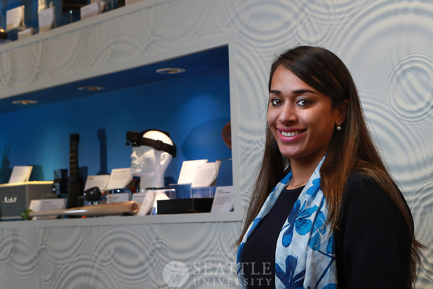 August 24th 2017- Sukhman Ghumman, '16 masters of software engineering from CSE photographed at Bluetooth SIG, Inc. in Kirkland, Wash where she manages two technology teams. Ghumman is originally from India.