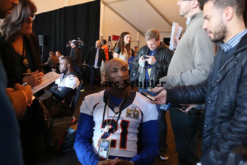 CB Aqib Talib (Broncos) - Super Bowl 50 Denver Broncos PK, Marriott Santa Clara