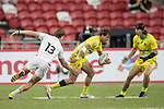 John Porch of Australia runs with the ball during the match Australia vs England, the Bronze Final of Day 2 of the HSBC Singapore Rugby Sevens as part of the World Rugby HSBC World Rugby Sevens Series 2016-17 at the National Stadium on 16 April 2017 in Singapore. Photo by Victor Fraile / Power Sport Images