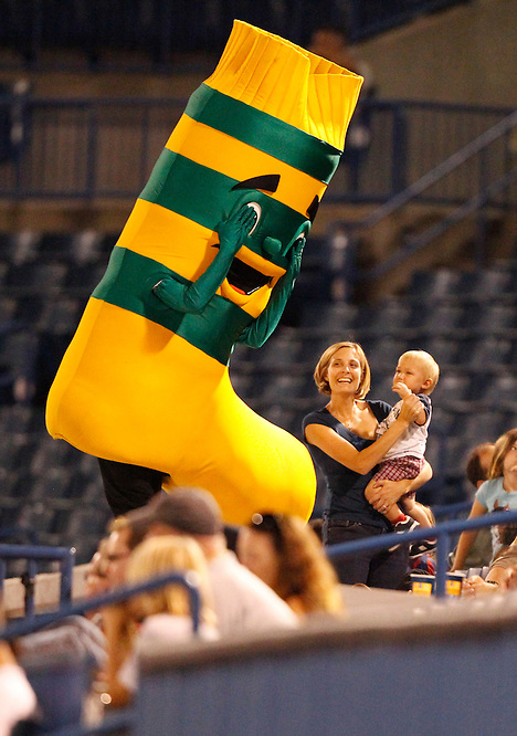 OCTOBER 1, 2010; TAMPA, FLORIDA: Hoops the mascot of the FC Tampa Bay Rowdies during a game against Crystal Palace Baltimore at Steinbrenner Field in Tampa, Florida. FC Tampa Bay won the game 6-3. Photo by Matt May/FC Tampa Bay Rowdies
