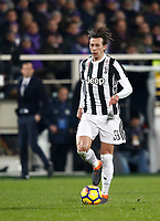 Calcio, Serie A: Fiorentina - Juventus, stadio Artemio Franchi Firenze 9 febbraio 2018.<br /> Juventus' Federico Bernardeschi in action during the Italian Serie A football match between Fiorentina and Juventus at Florence's Artemio Franchi stadium, February 9, 2018.<br /> UPDATE IMAGES PRESS/Isabella Bonotto