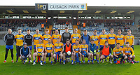 26th January 2020; TEG Cusack Park, Mullingar, Westmeath, Ireland; Allianz Football Division 2 Gaelic Football, Westmeath versus Clare; Clare team squad pictured before throw in against Westmeath