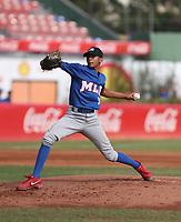 Javier Atencio participates in the MLB International Showcase at Estadio Quisqeya on February 22-23, 2017 in Santo Domingo, Dominican Republic.