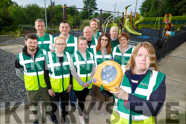 Michelle Bartlett and Milltown First Responders are holding a fundraiser in Mike O'Shea bar on June 2nd to help raise funds to buy a new defibilator front row l-r: Declan Kenny, Bronagh Kenny, Eva Lucey, Jennifer Browne, Joanie Murphy. Back row l-r: Turlough O'Brien, Damian Browne, Roy Cronin, Alan Moriarty and Ray Clifford