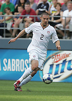 Heath Pearce dribbles the ball. USA defeated Grenada 4-0 during the First Round of the 2009 CONCACAF Gold Cup at Qwest Field in Seattle, Washington on July 4, 2009.