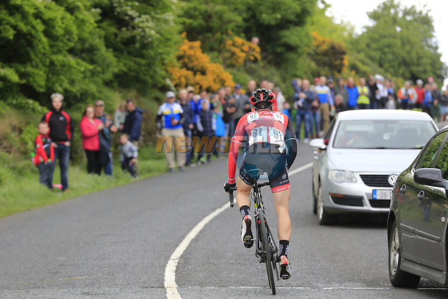 James Davenport (Cork Strata3/VeloRevolution) stuck in no man's land between groups on the first Cat 3 climb Loughcrew during Stage 1 of the 2017 An Post Ras running 146.1km from Dublin Castle to Longford, Ireland. 21st May 2017.<br /> Picture: Eoin Clarke | Cyclefile<br /> <br /> <br /> All photos usage must carry mandatory copyright credit (&copy; Cyclefile | Eoin Clarke)