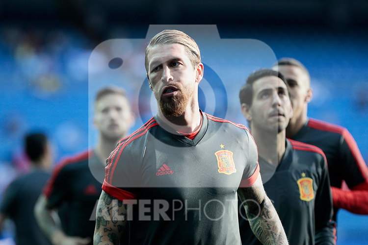Spain national team player Sergio Ramos during UEFA EURO 2020 Qualifier match between Spain and Sweden at Santiago Bernabeu Stadium in Madrid, Spain. June 10, 2019. (ALTERPHOTOS/A. Perez Meca)