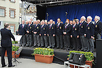 St Peter's Male Voice choir conducted by Edward Holly pictured at the Famine Commemoration in Drogheda. Photo: Colin Bell/pressphotos.ie