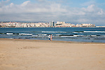 Sandy beach and sea Melilla autonomous city state Spanish territory in north Africa, Spain