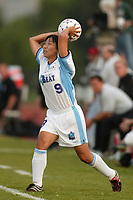 Sun Wen of the Atlanta Beat does a throw in during the Beat's 2-0 shut out of the New York Power on June 9th at Mitchel Athletic Complex.