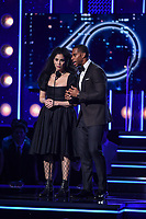 NEW YORK - JANUARY 28: Sarah Silverman and Victor Cruz appear on the 60th Annual Grammy Awards at Madison Square Garden on January 28, 2018 in New York City. (Photo by Frank Micelotta/PictureGroup)