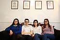 Siobhan McLaughlin (2nd right) sits with her 3 out her 4 children Rebecca, Billy and Lisa. Siobhan is bringing a case to the supreme court about the rights of unmarried widows. Photo/Paul McErlane