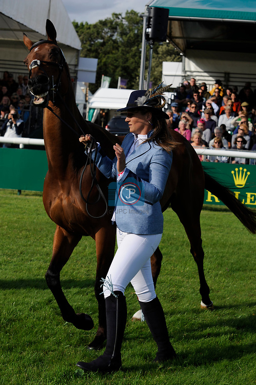 Stamford, Lincolnshire, United Kingdom, 4th September 2019, Katie Preston (GB) & Templar Justice during the 1st Horse Inspection of the 2019 Land Rover Burghley Horse Trials, Credit: Jonathan Clarke/JPC Images