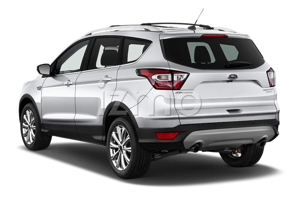 Car pictures of rear three quarter view of 2018 Ford Escape Titanium 5 Door Suv Angular Rear