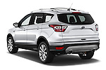 Car pictures of rear three quarter view of 2017 Ford Escape Titanium 5 Door Suv Angular Rear