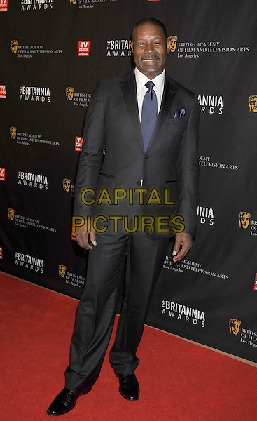Dennis Haysbert.BAFTA Los Angeles 2011 Britannia Awards held at the Beverly Hilton Hotel, Beverly Hills, California, USA..November 30th, 2011.full length suit blue tie white shirt black .CAP/ROT/TM.©Tony Michaels/Roth Stock/Capital Pictures