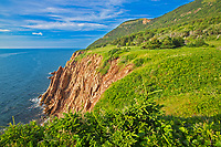Appalachain Mountains chain along the Gulf of St. Lawrence. Cape Breton Island. Cabot Trail. Cape Rouge.<br />