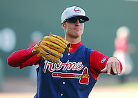 13 April 2007: Beau Jones of the Rome Braves, Class A affiliate of the Atlanta Braves, during a game against the Greenville Drive at West End Field, Greenville, S.C. Photo by:  Tom Priddy/Four Seam Images