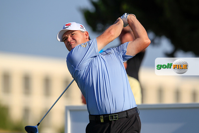 Paul Lawrie (SCO) on the 15th during the 1st round of the 2017 Portugal Masters, Dom Pedro Victoria Golf Course, Vilamoura, Portugal. 21/09/2017<br /> Picture: Fran Caffrey / Golffile<br /> <br /> All photo usage must carry mandatory copyright credit (&copy; Golffile | Fran Caffrey)