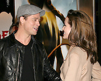 "Brad Pitt & Angelina Jolie.""Beowulf"" Premiere.Mann's Village Theater.Los Angeles, CA.November 5, 2007.©2007 Kathy Hutchins / Hutchins Photo...               ."