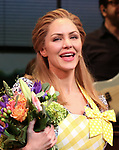 Katharine McPhee during her Broadway Debut Curtain Call in 'Waitress' at the Brooke Atkinson Theatre on April 10, 2018 in New York City.