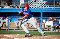 Auburn Doubledays first baseman Shawn Pleffner #18 during a NY-Penn League game against the Batavia Muckdogs at Dwyer Stadium on September 2, 2012 in Batavia, New York.  Batavia defeated Auburn 8-7.  (Mike Janes/Four Seam Images)