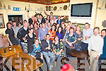 Ian Guiney seated front centre from Valentia celebrated his 40th birthday with family & friends in Boston's Bar Knightstown on Saturday night last.