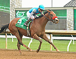 LEXINGTON, KY - APRIL 8: #5, Gas Station Sushi, ridden by Corey Nakatani, wins the G3 Beaumont Presented by Keeneland Select at Keeneland Race Course on April 8, 2018 in Lexington, KY. (Photo by Jessica Morgan/Eclipse Sportswire/Getty Images)