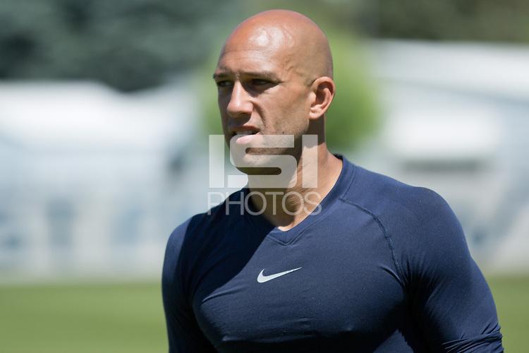 Salt Lake City, UT - Sunday, June 16, 2013: USMNT training for Honduras WC qualifying match.