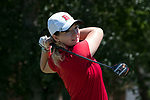 HOUSTON, TX - MAY 12: Christina Herbert, of Bridgwater University tees of during the Division III Women's Golf Championship held at Bay Oaks Country Club on May 12, 2017 in Houston, Texas. Christina Herbert won first place in the Division III Women's Golf individuals with a score of 293 (Photo by Rudy Gonzalez/NCAA Photos/NCAA Photos via Getty Images)