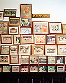 MALAYSIA, Kuala Lumpur, large group of picture frames displayed at Selangor Club