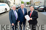 Heading into the Town Meeting on Traffic in Tralee on Monday evening l-r: Sean Hussey,Jim Finucane and Eddie Barrett (Business men in Tralee)