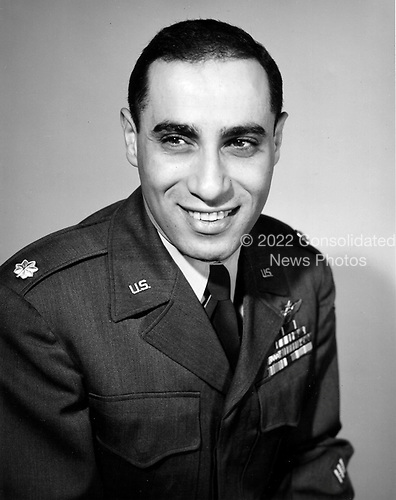 James Jabara was born in Muskogee, Oklahoma, October 10, 1923.   He was the world's first jet-vs-jet ace.  He  scored his initial victory on April 3, 1951 and his 5th and 6th victories on May 20, 1951. He was then ordered back to the United States for special duty. However, at his own request, he returned to Korea in January 1953.  By June, he had shot down nine additional MiG-15s, giving him a total of 15 air-to-air jet victories during the Korean Conflict. Jabara was also credited with 1.5 victories over Europe during World War 2 (The German Luftwaffe had 22 jet pilot aces during World War 2 but all claims were Allied prop-driven aircraft.)  Jabara died in a traffic accident on November 17, 1966.  At the time of his passing, he was the youngest Colonel in the Air Force, was widely rumored to be on the brink of promotion to General..Credit: U.S. Air Force via CNP
