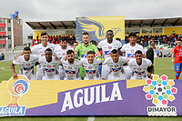 IPIALES - COLOMBIA, 24-08-2019: Jugadores del Union posan para una foto previo al partido por la fecha 8 de la Liga Águila II 2019 entre Deportivo Pasto y Unión Magdalena jugado en el estadio Estadio Municipal de Ipiales. / Players of Union pose to a photo prior match for the date 8 as part of Aguila League II 2019 between Deportivo Pasto and Union Magdalena played at Municipal stadium of Ipiales. Photo: VizzorImage / Leonardo Castro / Cont
