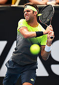 11th January 2018, ASB Tennis Centre, Auckland, New Zealand; ASB Classic, ATP Mens Tennis;  Jiri Vesely (CZE) during the ASB Classic ATP Men's Tournament Day 4 Quarter Finals