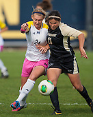 The University of Michigan women's soccer team; 3-1 victory over Purdue at UM Soccer Stadium in Ann Arbor MI. on October 20,2013.