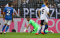 Torwart Sergei Lepmets (Estland, Estonia) geschlagen beim 1:0 durch Marco Reus (Deutschland, Germany) - 11.06.2019: Deutschland vs. Estland, OPEL Arena Mainz, EM-Qualifikation DISCLAIMER: DFB regulations prohibit any use of photographs as image sequences and/or quasi-video.
